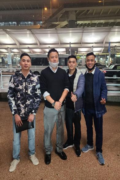 ベトナム人3名を成田空港へお迎え
